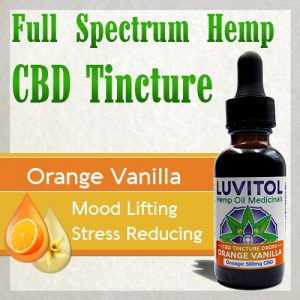 Luvitol CBD Tincture Organic Orange Terpenes