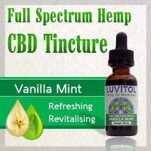 Luvitol CBD Tincture Vanilla Mint Organic Terpenes