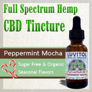 Luvitol CBD Holiday Flavor Peppermint Mocha CBD